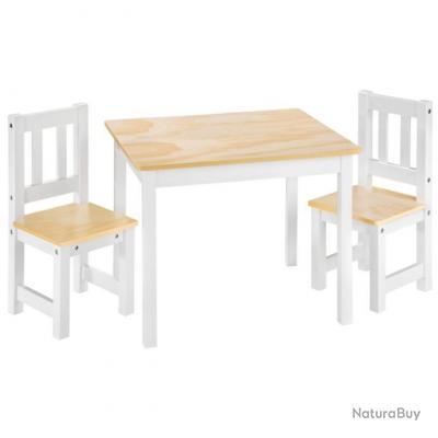 1 Table et 2 Chaises Enfant,en Bois neuf +++++++++