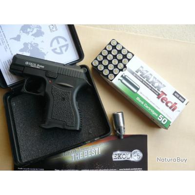 Pistolet  Défense 9 mm Ekol Botan + 50 munitions