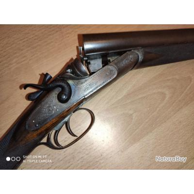 Magnifique fusil à chiens James Woodward & Sons 12/70 pn, vente libre, cat D