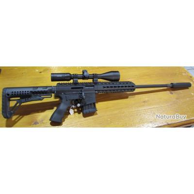 carabine a verrou 22lr Schmeisser BA-15 black, avec lunette hawke 3-9x50, silencieux NEUF