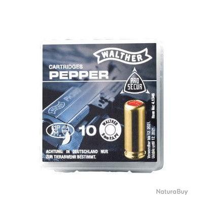 Munitions 9mm PAK Walther poivre x10 Home