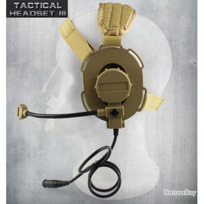 CASQUE AVEC PTT pour le Combat de tir Airsoft Paintball - PAS DE PRIX DE RÉSERVE    !!