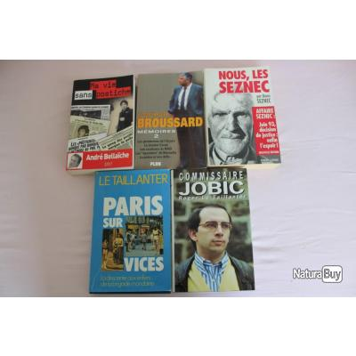 Lot 5 ouvrages police, commissaire, affaire..