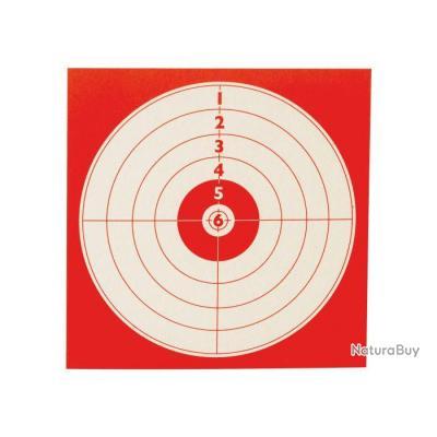 100 Cibles 14X14cm Fond Rouge