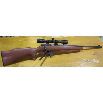 Carabine 22lr Armscor 1400, canon 56cm, chargeur 10 cartouches, lunette hawke 4x32