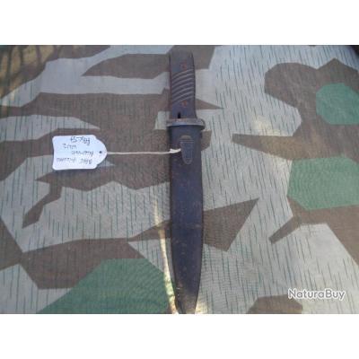 Poignard de combat ALLEMAND WW2 issu de la modification d'une Baïonnette MAUSER 84/98