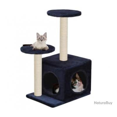 Arbre à chat avec griffoirs en sisal 60cm Bleu foncé 63519