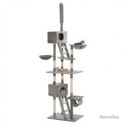 Arbre à chat avec griffoirs en sisal 230-260 cm Gris 63520