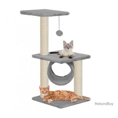 Arbre à chat avec griffoirs en sisal 65 cm Gris 63595
