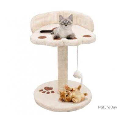 Arbre à chat avec griffoir en sisal 40 cm Beige et Marron 63619