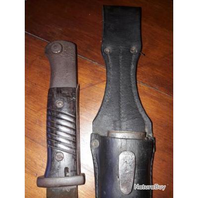 Baionnette WW2 Allemande 84/98 avec porte fourreau