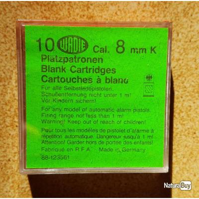 BOITE DE 10 CARTOUCHES A BLANC DE 8 MM K