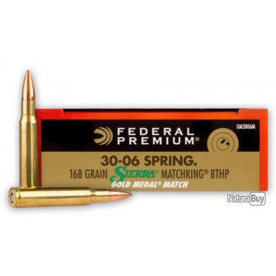 Munitions Federal Gold Cup 30-06 Springfield Sierra Matchking 168 grs
