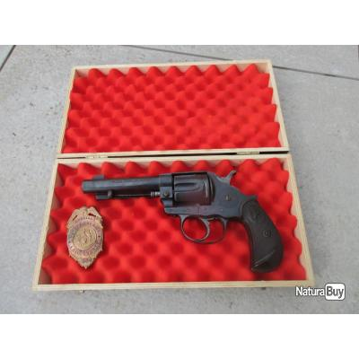 RARE 44/40 COLT 1878 COMMANDE DE POLICIER US NOMINATIF AU DOS DE POIGNÉE