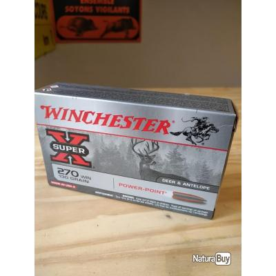 Munition Winchester 270 130 grains