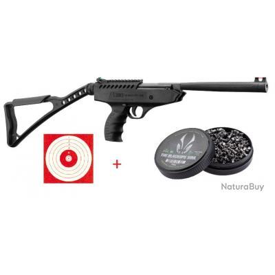Pistolet à air 13.7 JOULES break barrel LANGLEY PRO SNIPER Calibre 4.5mm + 100 Cibles + 500 Plombs