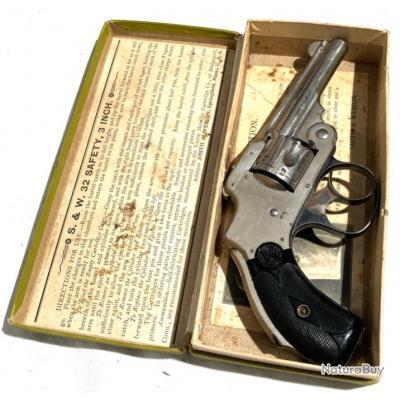 Smith & Wesson Safety 1er modèle calibre 32 SW avec sa boite d'origine