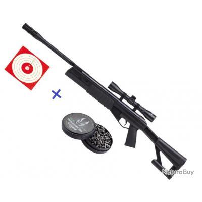 Carabine Crosman TR77 NPS 4.5mm 20 Joules + Lunette 4X32 +100 Cibles +500 Plombs 3/4 FOIS SANS FRAIS