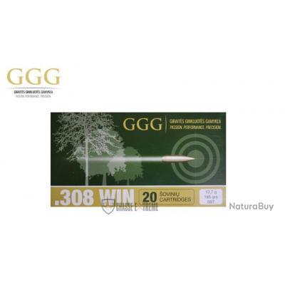 20 MUNITIONS GGG CAL 308 WIN 165 GR SBT