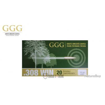 20 MUNITIONS GGG CAL 308 WIN 155 GR HPBT