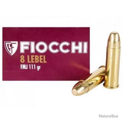 MUNITIONS FIOCCHI CAL 8MM LEBEL - 111 GR FMJ (X50)