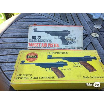 2 PISTOLETS A AIR COMPRIMÉ UN DIANA MOD 5G ET UN RO72 TARGET AIR pistolet
