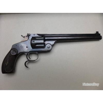 revolver Smith et Wesson n° 3 new model target calibre .44 russian canon de 8 pouces
