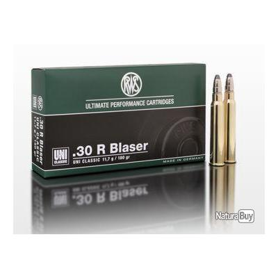 Munitions RWS Cal.30R Blaser UNI CLASSIC 11.7g 181grains par 20