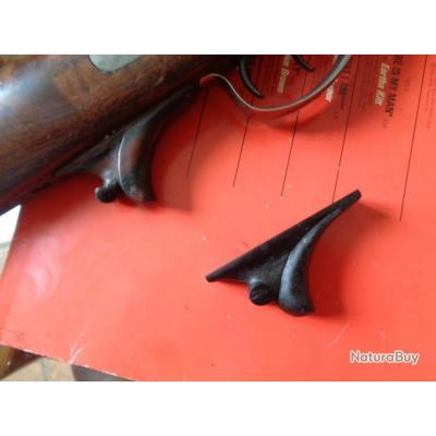 Poigné pistolet amovible en ébène pour Fusils Sharps ou Remington Rolling Block