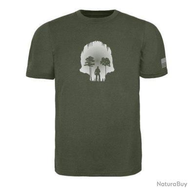 Triple Aught Design Skull Cave T Shirt Noir