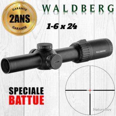 LUNETTE DE BATTUE WALDBERG 1-6X24  - LIVRAISON RAPIDE ET ASSURÉE !!