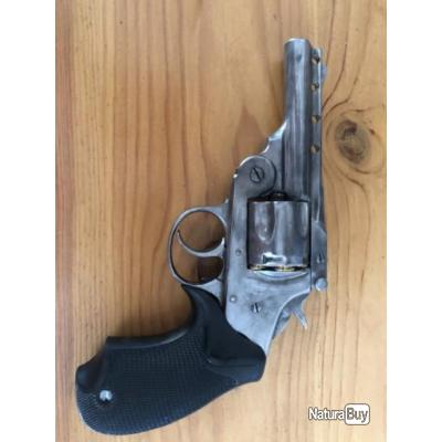Calibre 38 Smith et Wesson Iver Johnson army 5 coup simple et double action apte au tir crosse pvc