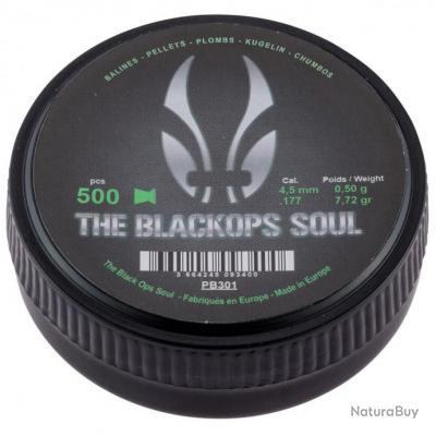 Boite de 500 Plombs 4.5 mm Black Ops Soul Tête Match Plate par 1
