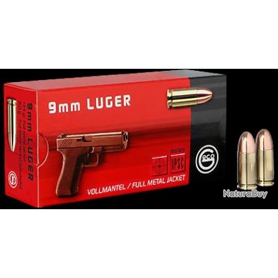 1000 Cartouches Geco calibre 9x19 mm 124 grains FMJ