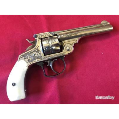 Superbe et rare Revolver Smith & Wesson 32DA gravé d'usine cal.32S&W (052)