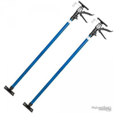 2x Etai Bleu télescopique support barre tiges traverse de plafond set 115-290cm 30kg neuf