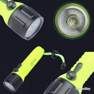 Lampe De Poche LED Plongée Opération Sous-Marine Étanche Activités Plein Air