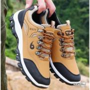 Wantdo Homme Chaussures de Randonn/ée Imperm/éables en Cuir Su/éd/é pour Entra/îneur de Montagne Randonn/ée Camping