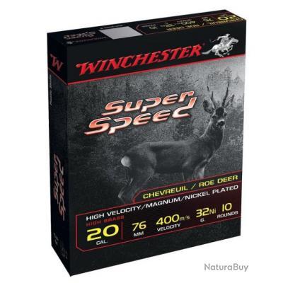Winchester Super speed Cal.20/76 32gr nickelé par 50
