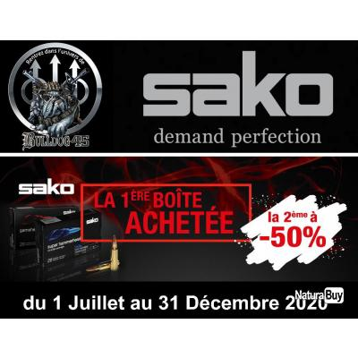 Cartouches SAKO 300WIN MAG HAMMERHEAD SP 14.3G 220GR 228A Lot de 2 Boites de 10