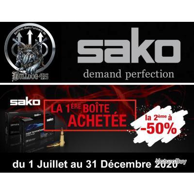 Cartouches SAKO 308WIN TRG PRECISION HPBT 11.3G 175GR 157A Lot de 2 Boites de 20