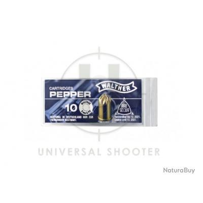 Cartouches 9mm pour Revolver au poivre x10 de marque Walther