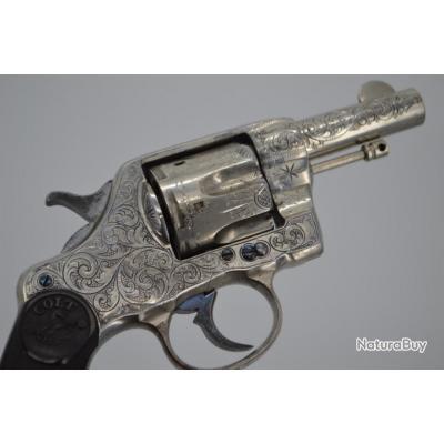 COLT 1895 GRAVER NICKELE 3 pouces CALIBRE 41 Long Colt - USA XIXè Très bon  U.S.A. XIX eme Civil Cat