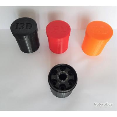 Boite range barillet + protège cheminée colt 1851 calibre 36 poudre noire