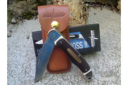 CS20NPM1 Cold Steel Ranch Boss II SK-5 Blade Synthetic Bone Handle Liner Lock Le