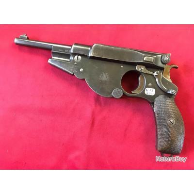Très rare, beau pistolet Bergmann Mod.1896 n°3, cal 6,5 Bergmann (039)
