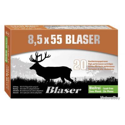 1 BOITE CARTOUCHES BLASER C/8.5X55 BLASER - OGIVE BARNES TTSX 12 G - BOITE DE 20