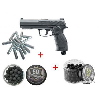 Pack T4E HDP 50 11 Joules + 50 Balles Caoutchouc + 50 Balles Coeur Métal + 5 CO2