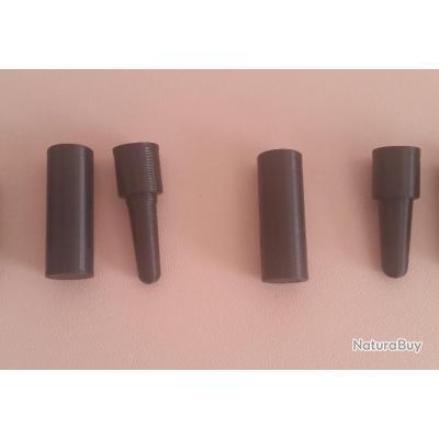 2 Mandrins Gabarit Cal.44 balle ronde et ogivale pour cartouche papier poudre noire
