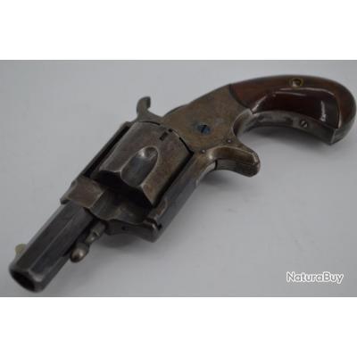 REVOLVER HOPKINS & ALLEN VEST POCKET XL N°5 Calibre 38RF annulaire - USA XIXè Très bon  U.S.A. XIX e